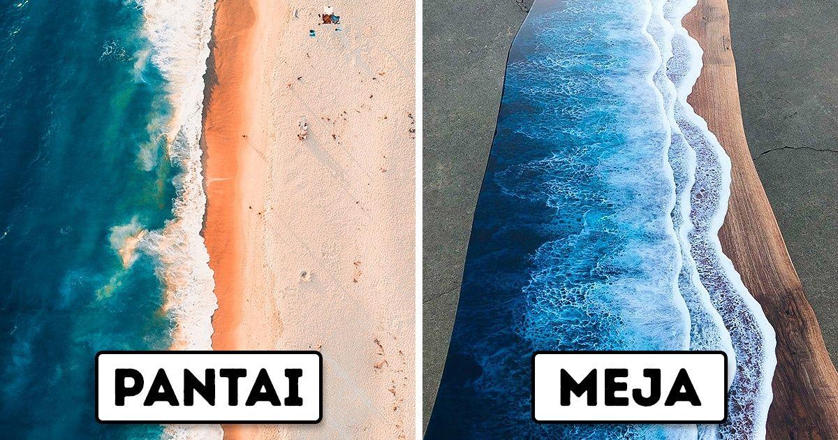 Kamu Sekarang Bisa Membeli Furnitur Resin yang Mirip Ombak di Pantai